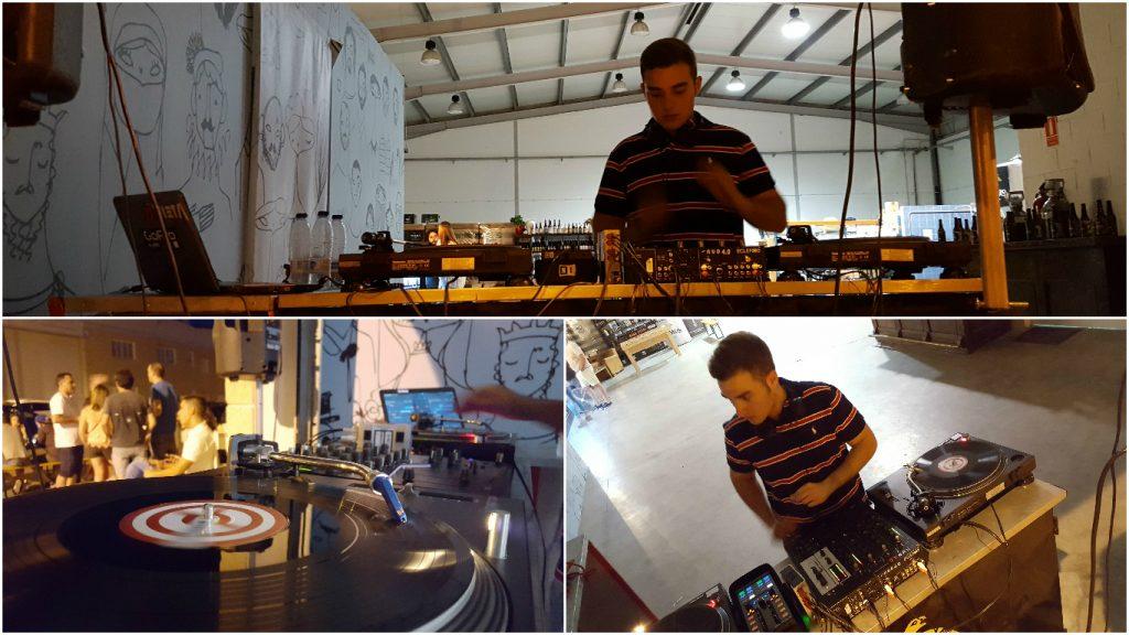 Momento de la sesión del DJ Fran Bravo