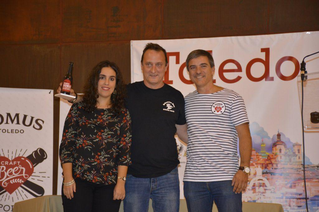 Dani Mezquita con Fernando Campoy y la Concejal de Trabajo e Igualdad del Ayuntamiento de Toledo Inés Sandoval